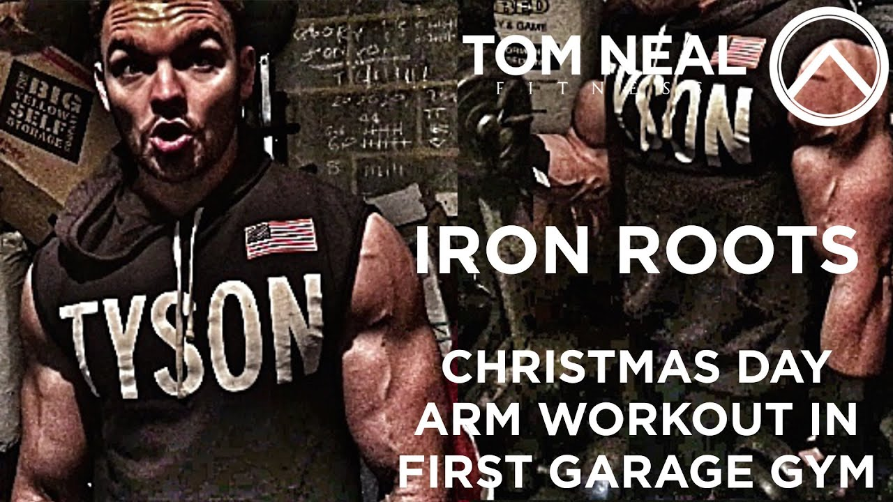 Iron roots christmas day arm workout in first garage gym youtube