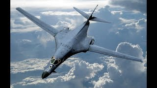 Breaking 2 USA B1 Nuclear Bombers fly over South China Sea Raw Footage July 8 2017