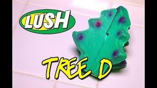 LUSH - TREE D Luxury Bath Melt - Christmas 2017 DEMO & REVIEW Underwater View