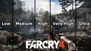 Far Cry 4 Graphics Comparison PC (Low to Ultra)
