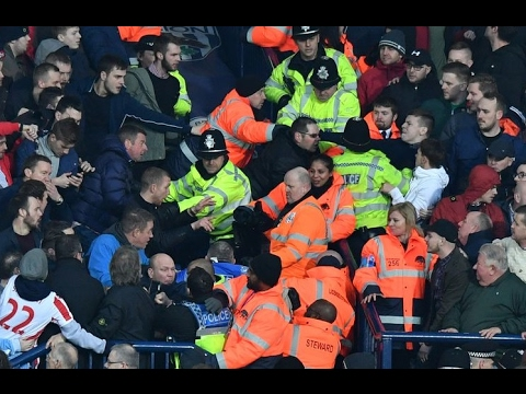 West Brom - Stoke City and Baggies fans clash at The Hawthorns