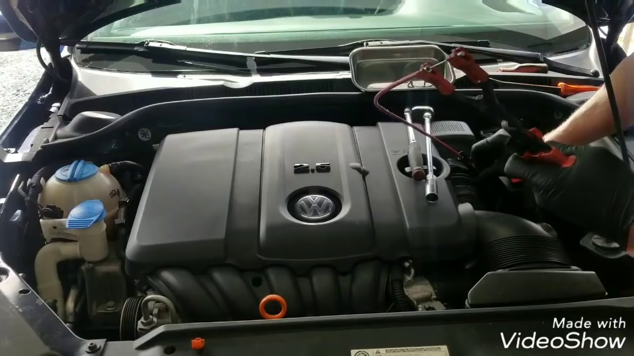 Replacing Coils And Spark Plugs Vw 2 5l 2010 2011 2012 2013 2014 Youtube