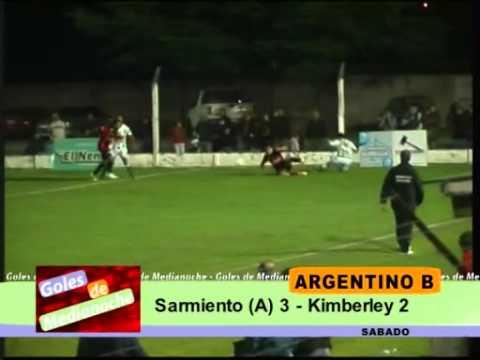 Sarmiento (Ayacucho) 3 - Kimberley (MDP) 2 - Goles de Medianoche