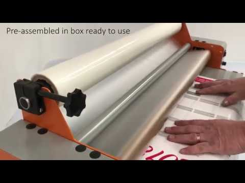 econolam poster laminator from lamination system