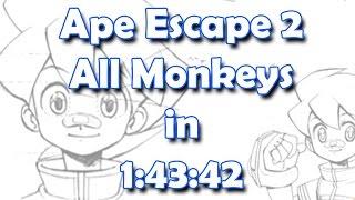 Ape Escape 2 (サルゲッチュ2) | All Monkeys Speedrun | 1:43:42