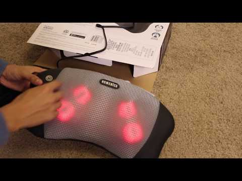 Homedics Shiatsu Pillow Massager Unboxing