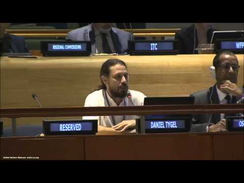 Daniel Tygel at 2nd UN meeting of the High level Political Forum on Sustainable Development