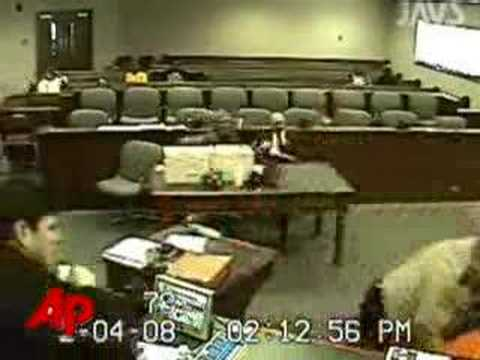 Raw Video: Suspect Assaults Lawyer