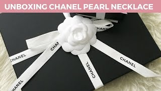 UNBOXING CHANEL CLASSIC PEARL  NECKLACE