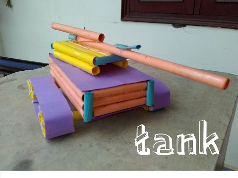 How to Make a Paper Tank - Easy Learning