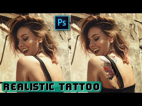 How To Add Tattoo With Easy Steps In Adobe Photoshop Tutorial In Hindi thumbnail