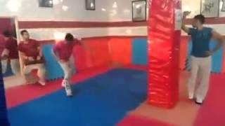 Taekwondo  pad workin Olympic styles