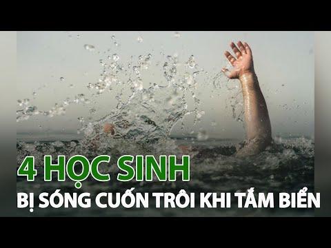 Thanh Hóa: 4 học sinh bị sóng C.U.Ố.N khi tắm biển| VTC14