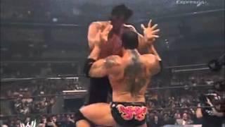 Great Khali vs Rey Mysterio vs Batista Highlights - Unforgiven 2007