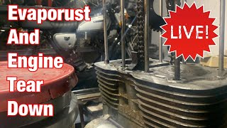 Motorcycle Engine Top End Tear Down, Evaporust & More LIVE Stream