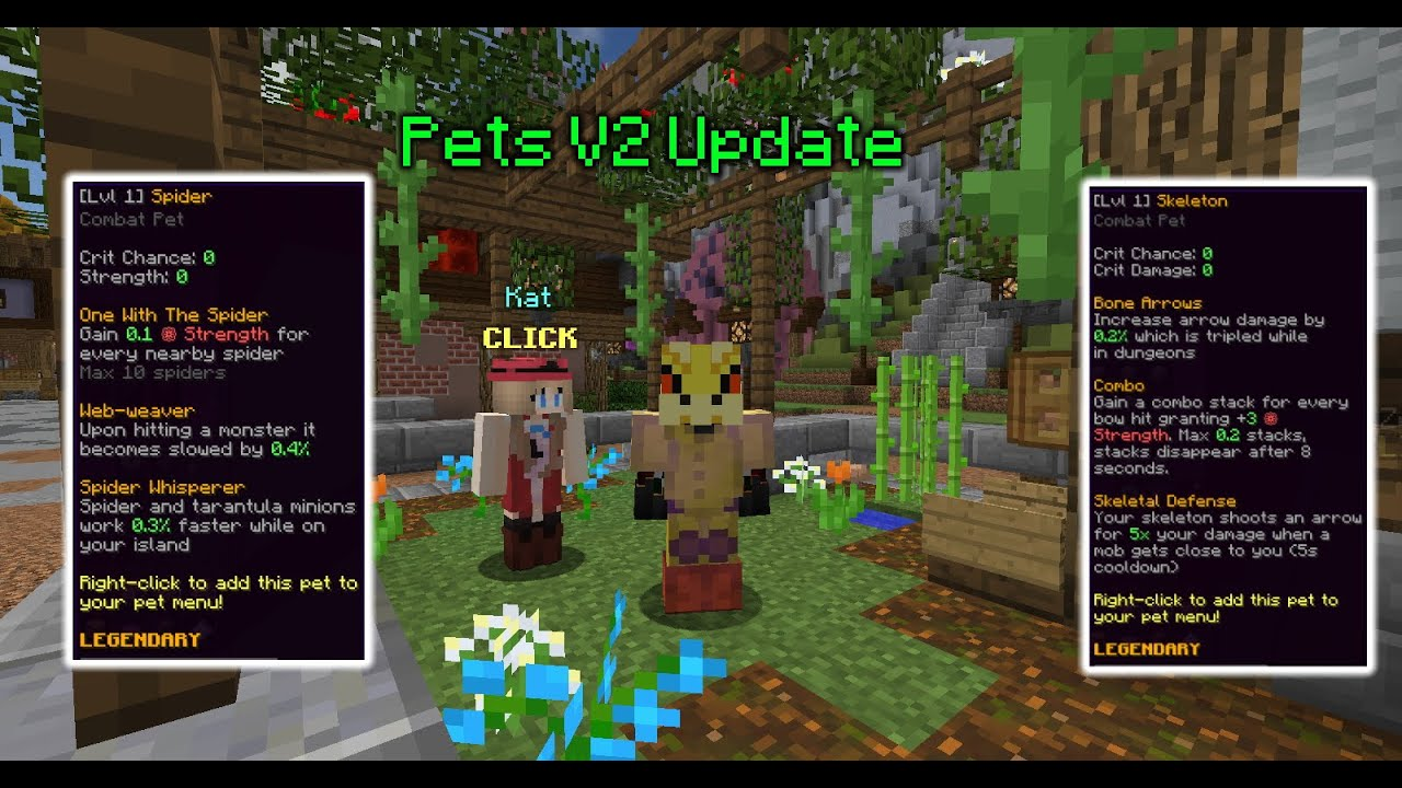 New Hypixel Skyblock Pets V2 Update Everything You Need To Know Youtube