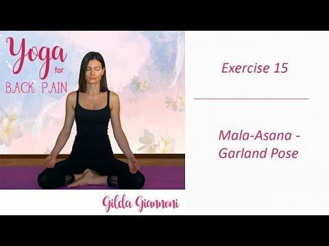 Mala-Asana - Garland Pose - Yoga for Back Pain