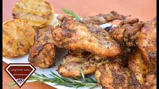 The ULTIMATE Lemon Pepper, Garlic and Rosemary Chicken Wings |Cooking With Carolyn