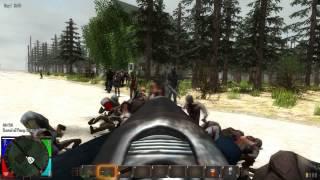7 Days to Die: Vid #1 - Massive Zombie Horde! 150+Zombies