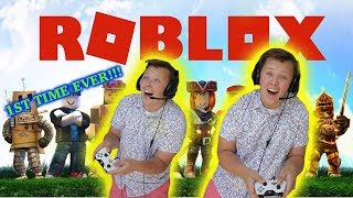 FIRST TIME EVER PLAYING ROBLOX!!!