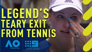 Legend's tearful exit from tennis at the Australian Open | Wide World of Sports