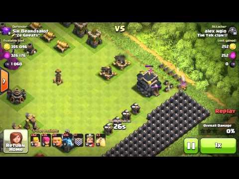 Clash of Clans - Worst Defense - Worst Raid