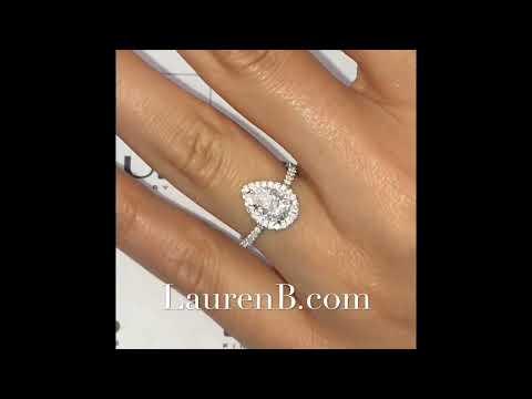 1 carat Pear Shape Diamond Engagement Ring