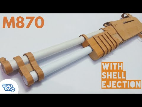 How To Make Cardboard Shotgun That Shoots - with shell ejection