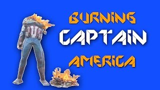 Papercraft-Burning captain america