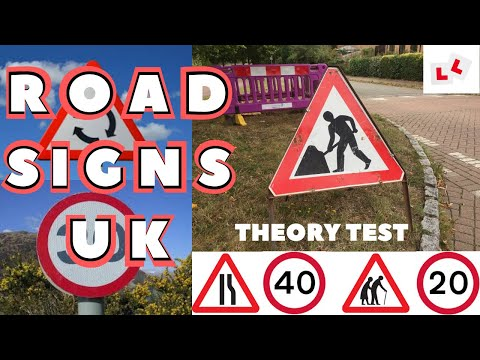 UK ROAD SIGNS In Villages And Towns. Highway Code Signs