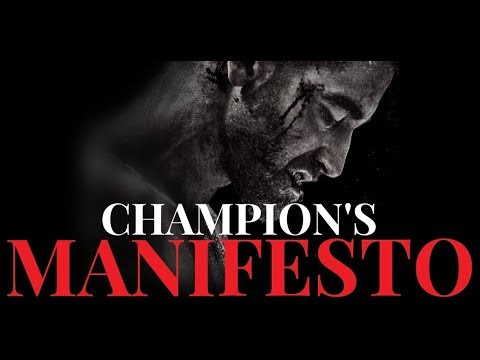 THE CHAMPION'S MANIFESTO Feat. Billy Alsbrooks (Powerful Motivational Video)