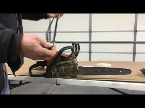 The EASY way to change a Chainsaw Chain Stihl MS 180C