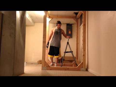 Power rack selber bauen  Stabiles POWER RACK aus Holz Selber bauen DIY - YouTube