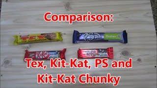 Comparison: Tex, Kit-Kat, Ps and Kit-Kat Chunky