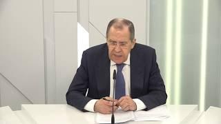 Пресс-конференция С.Лаврова по итогам СГБМ в формате видеоконференции, Москва,  19 мая 2020 года