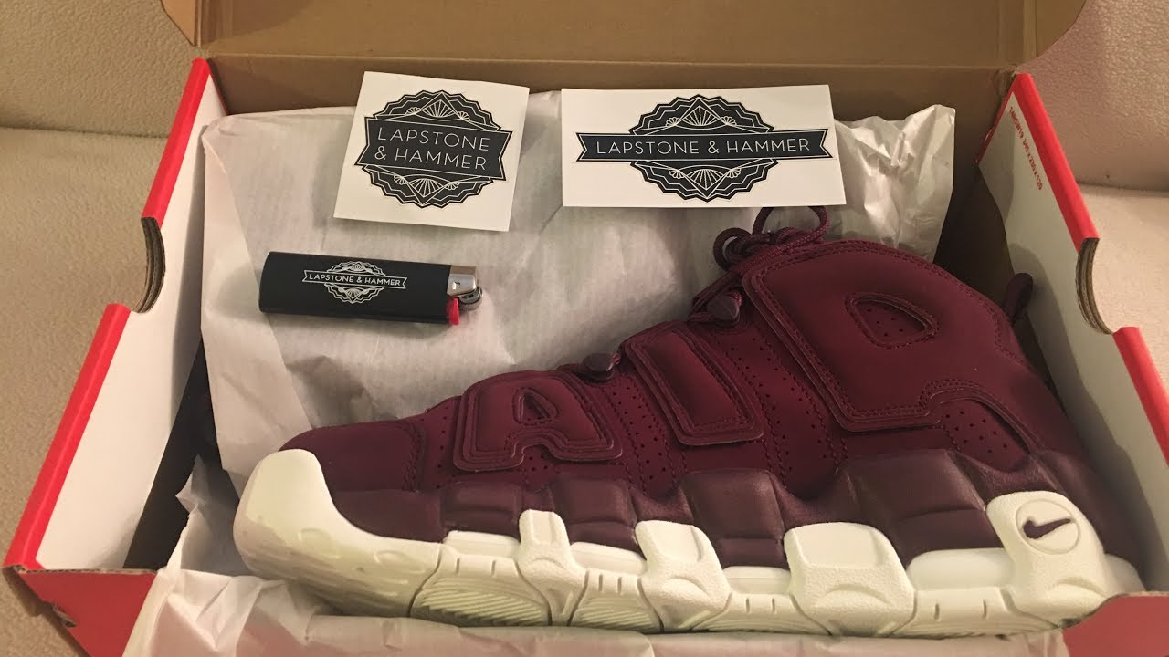 Unboxing Nike Air More Uptempo  96 QS Night Maroon  LapstoneHammer  Nike bca770932