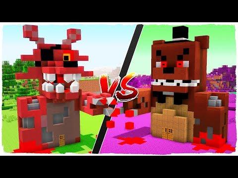 FREDDY.EXE house vs FOXY.EXE house - MINECRAFT