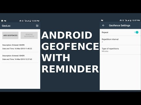 ANDROID GEOFENCE WITH REMINDER