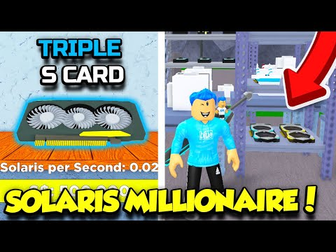 BECOMING A SOLARIS MILLIONAIRE IN BITCOIN MINER AND GETTING AN INSANE TRIPLE S CARD!! (Roblox)