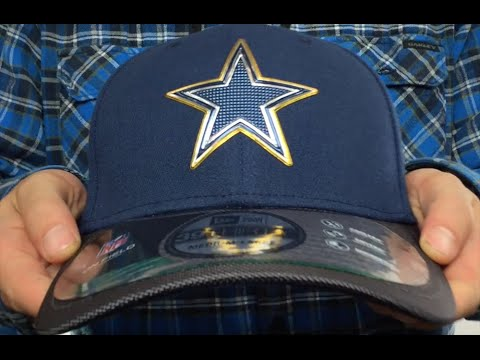 76645aef Cowboys '2015 GOLD COLLECTION FLEX' Navy-Charcoal Hat by New Era