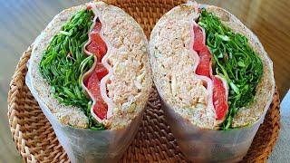 채소듬뿍 모닝빵 샌드위…
