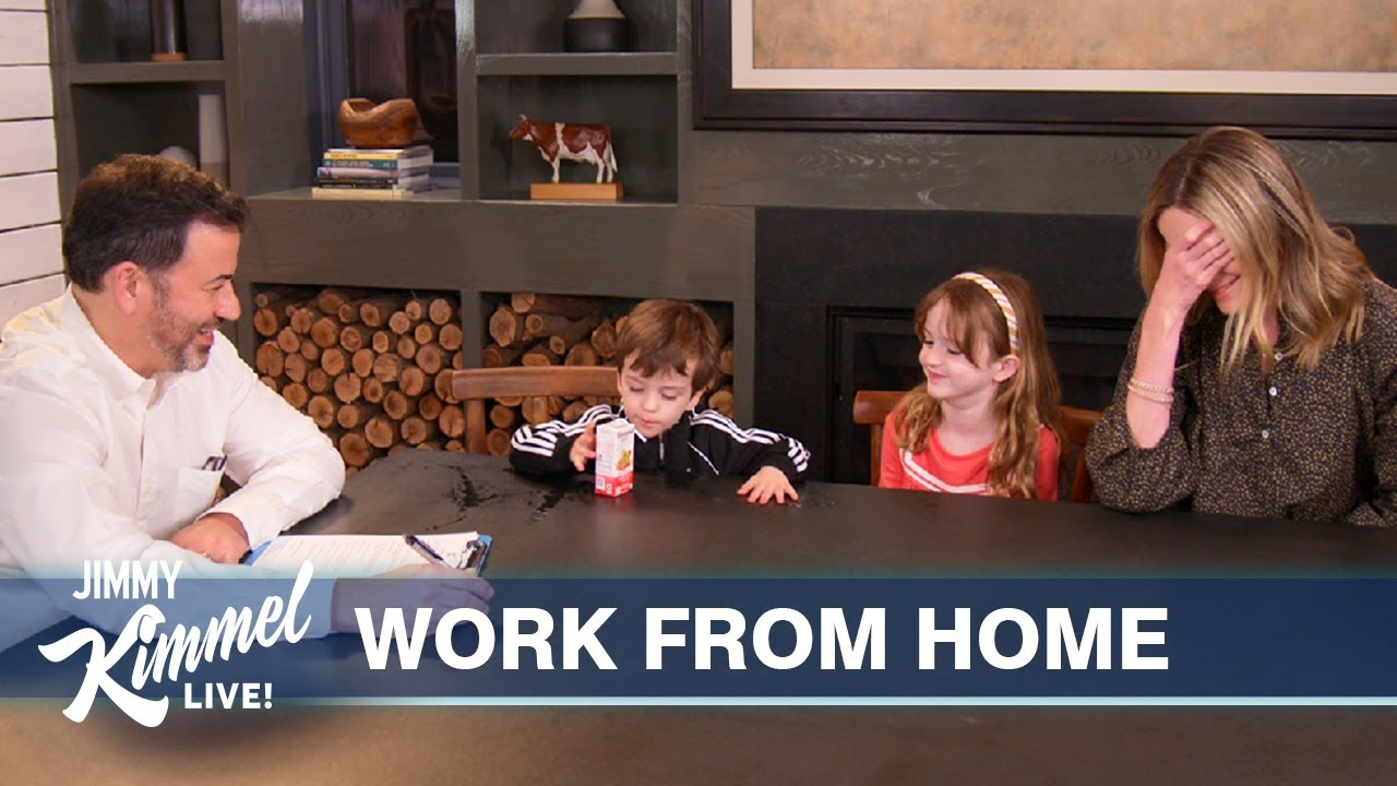 Download Jimmy Kimmel Teaches His Kids How to Behave in the Workplace