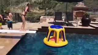 Funny videos - Swimming Pool Diving Board Tricks