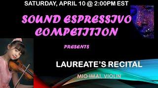 Mio Imai, violin - Sound Espressivo Laureates' Recital