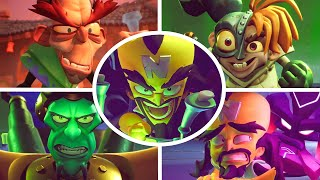 Crash Bandicoot 4: It's About Time - All Bosses + Cutscenes (No Damage)