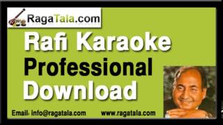 Aasmaan se aaya farishta - Rafi Karaoke Tracks - RagaTala