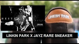 RIP Chester Bennington Tribute - Rare Linkin Park Jayz Collision Course Sneaker
