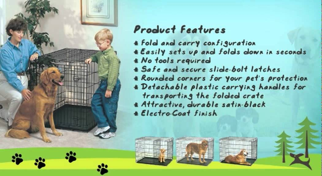 Dog Carriers Midwest Life Stages Single Door Folding Metal Dog Crate