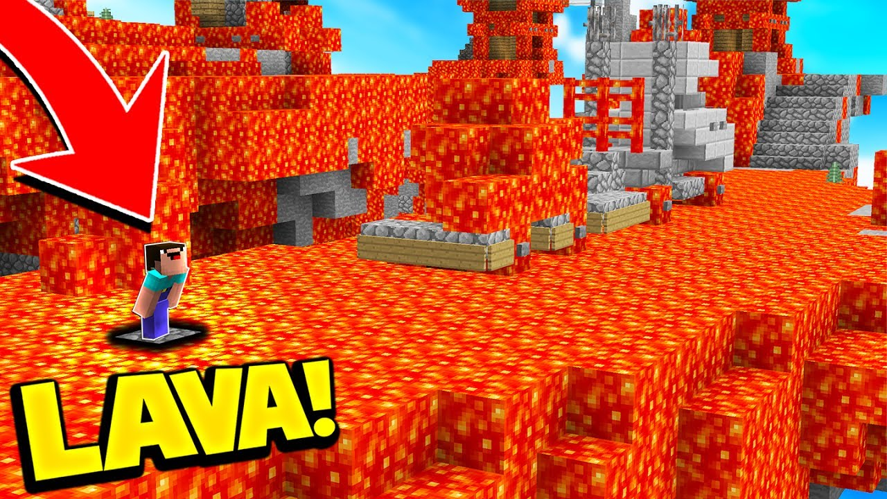 The Floor Is 100 Lava Impossible Minecraft Challenge
