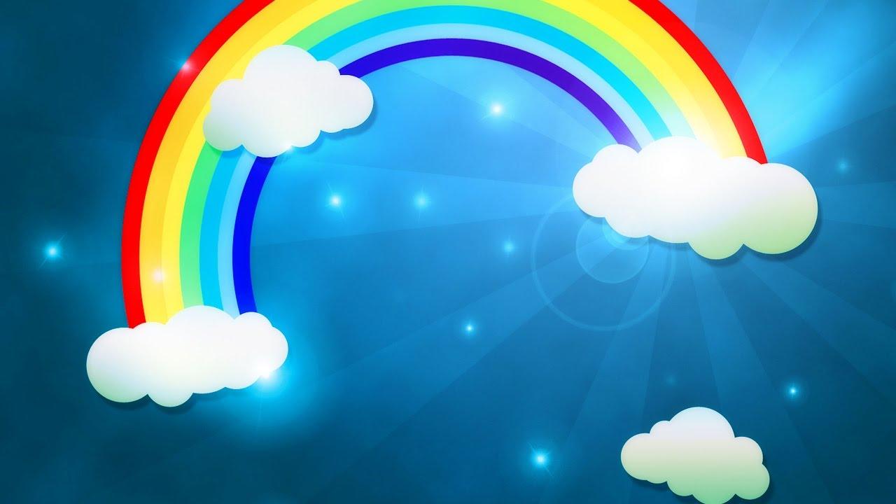 Картинка тучка и радуга